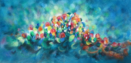 (CreativeWork) Spring is in my heart by Jane Welsh. arcylic-painting. Shop online at Bluethumb.