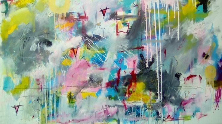 (CreativeWork) The Pause of Unknowingness  by Dan Crossley. Acrylic. Shop online at Bluethumb.