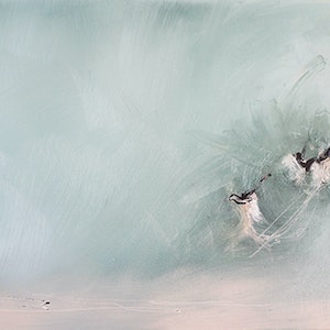(CreativeWork) Off Shore by Nicole Maguire. oil-painting. Shop online at Bluethumb.