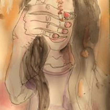 (CreativeWork) Fumeuse by Zazie Manson. watercolour. Shop online at Bluethumb.