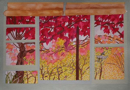 (CreativeWork) Autumn View by Anne Molony. other-media. Shop online at Bluethumb.