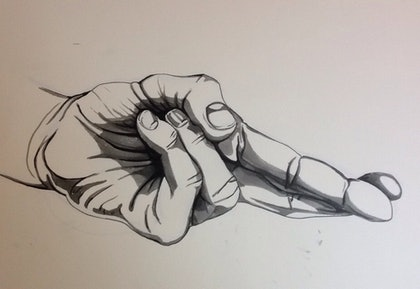 (CreativeWork) Fingers crossed by LHD Art. drawing. Shop online at Bluethumb.