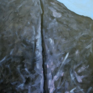 (CreativeWork) Ganesh Crack by Michael Ryan. oil-painting. Shop online at Bluethumb.