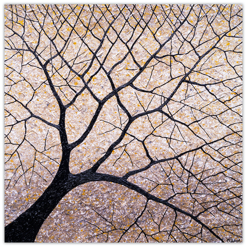 (CreativeWork) Earthy Tree (angled)  by Miranda Lloyd. mixed-media. Shop online at Bluethumb.