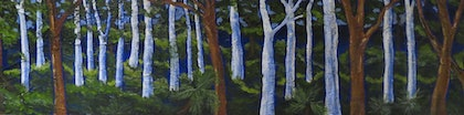 (CreativeWork) into the deep blue by Elizabeth Young. arcylic-painting. Shop online at Bluethumb.