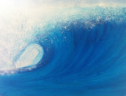 (CreativeWork) Pipeline by Elizabeth Young. arcylic-painting. Shop online at Bluethumb.