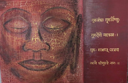 (CreativeWork) Shanti Mantra by Elizabeth Young. arcylic-painting. Shop online at Bluethumb.