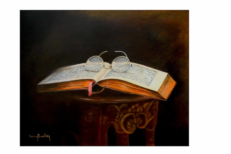 (CreativeWork) Night Reader by Danny Bradley. arcylic-painting. Shop online at Bluethumb.