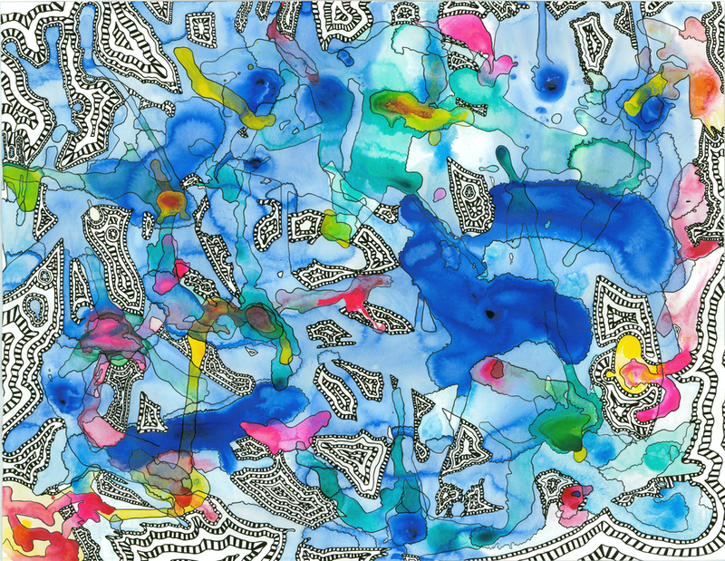(CreativeWork) Mind Map (Muri Lagoon) by Bay The Artist. acrylic-painting. Shop online at Bluethumb.