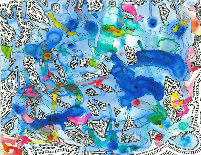 (CreativeWork) Mind Map (Muri Lagoon) by BAY Contemporary Artist. Acrylic Paint. Shop online at Bluethumb.