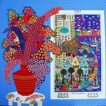 (CreativeWork) San Francisco Dreaming  by Marie Jonsson-Harrison. mixed-media. Shop online at Bluethumb.