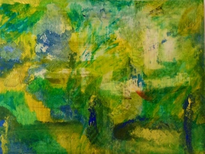 (CreativeWork) THE AMAZON FOREST by Deryal mehmet. arcylic-painting. Shop online at Bluethumb.