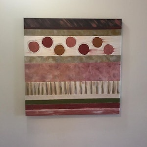 (CreativeWork) Abstract neutral and earthy  by Natalie Merino. arcylic-painting. Shop online at Bluethumb.