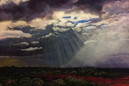 (CreativeWork) SOARING SPIRITS, GASCOIGNE DOWNPOUR  by John Darcey. other-media. Shop online at Bluethumb.