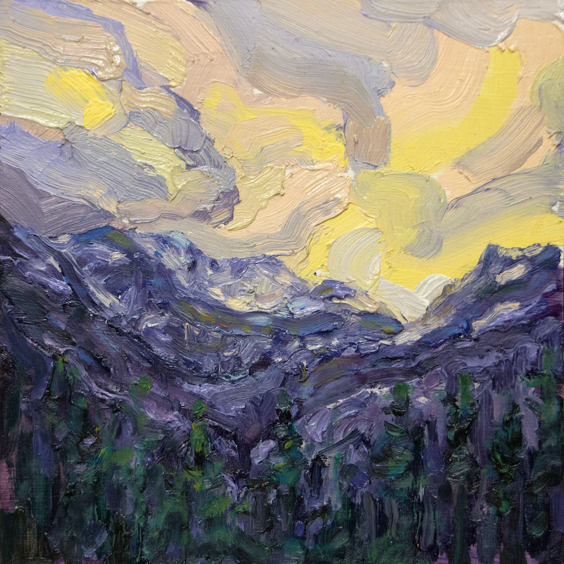 (CreativeWork) Not The Blue Mountains by Steven Makse. Oil Paint. Shop online at Bluethumb.