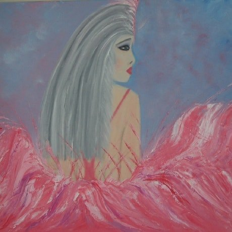 (CreativeWork) Show Girl by Belinda McDonnell. Oil Paint. Shop online at Bluethumb.