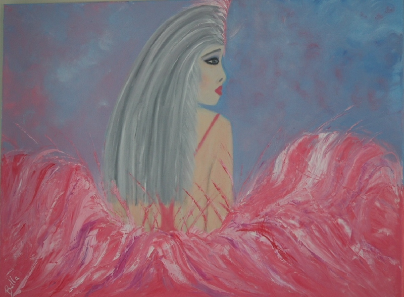 (CreativeWork) Show Girl by Belinda McDonnell. oil-painting. Shop online at Bluethumb.