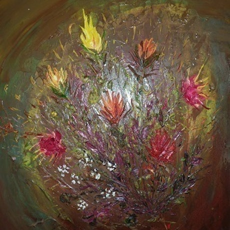 (CreativeWork) Bunch of Gift by Rudy A R. Oil. Shop online at Bluethumb.
