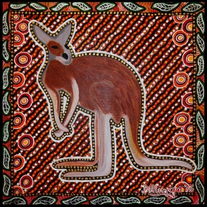 "(CreativeWork) ""Goondthi"" Kangaroo by Tania Ault. arcylic-painting. Shop online at Bluethumb."