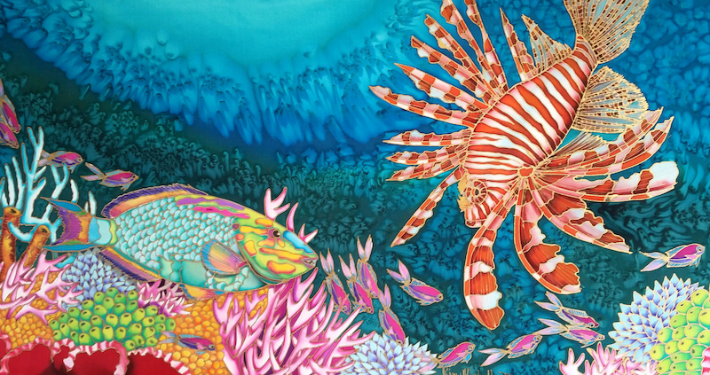 (CreativeWork) Floating Free With Lionfish by Kim Michelle Toft. other-media. Shop online at Bluethumb.