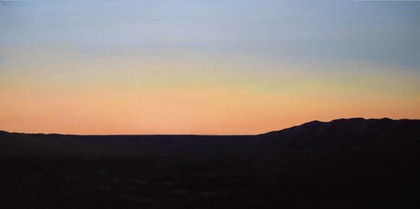 (CreativeWork) Last light by Paul Renals. oil-painting. Shop online at Bluethumb.