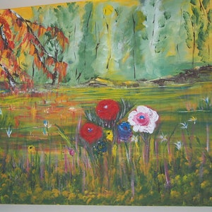 (CreativeWork) Spring has sprung by Belinda McDonnell. acrylic-painting. Shop online at Bluethumb.