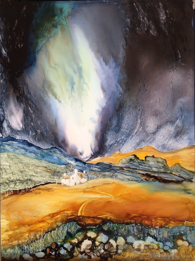 (CreativeWork) Hail on the Way by Meg Lewer. other-media. Shop online at Bluethumb.