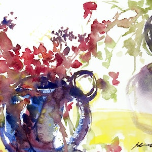 (CreativeWork) See What Happens by Jill Bryant. watercolour. Shop online at Bluethumb.
