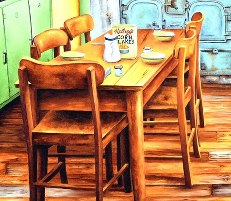 (CreativeWork) MKR 1950's by Luna Vermeulen. Oil Paint. Shop online at Bluethumb.