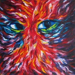 (CreativeWork) Intrigue by Rona Barugahare. oil-painting. Shop online at Bluethumb.