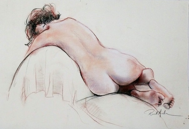 (CreativeWork) Nude 6 by Russell Austin. Drawings. Shop online at Bluethumb.