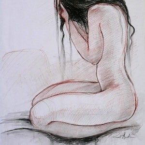 (CreativeWork) Nude 10 by Russell Austin. Drawings. Shop online at Bluethumb.