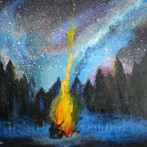 (CreativeWork) Love fire Consuming by kellie brace. arcylic-painting. Shop online at Bluethumb.