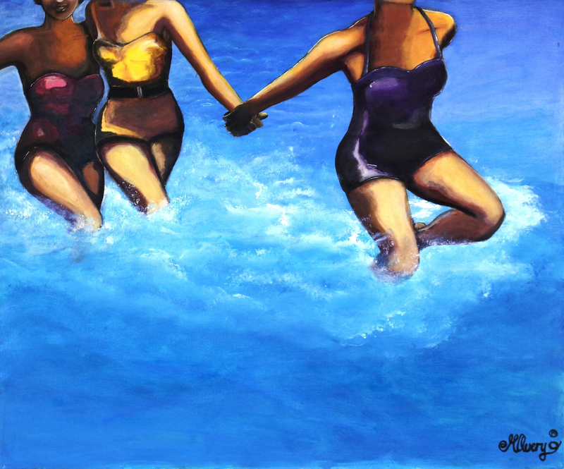 (CreativeWork) Freedom sea by Michelle Avery. arcylic-painting. Shop online at Bluethumb.