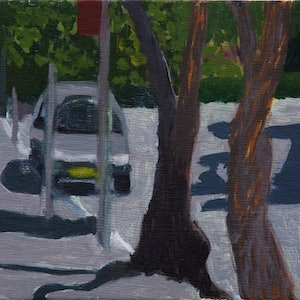 (CreativeWork) Street scape - Glebe 15 - Marlborough st.  by Ishbel Morag Miller. oil-painting. Shop online at Bluethumb.