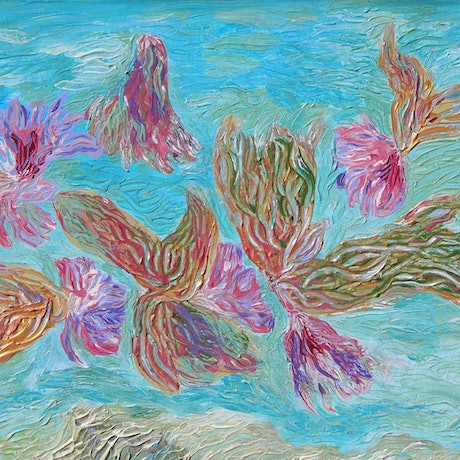 (CreativeWork) Water Fairies by Kim Sayers. Acrylic Paint. Shop online at Bluethumb.