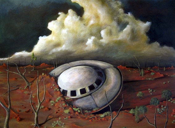 (CreativeWork) Alien Landscape - Limited Edition Print 12/250 by Tank .. Reproduction Print. Shop online at Bluethumb.