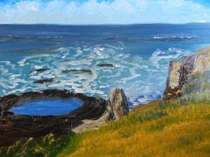 (CreativeWork) Flagstaff Point by Pamela Meredith. oil-painting. Shop online at Bluethumb.
