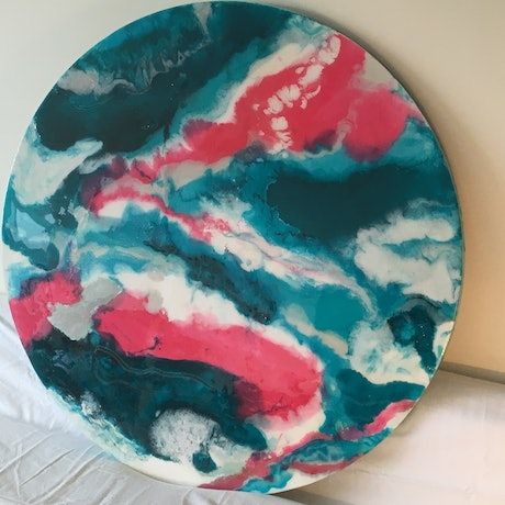(CreativeWork) Reef Dreaming by Sally Delorenzo. Resin. Shop online at Bluethumb.