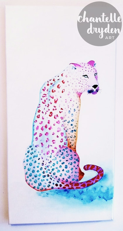 (CreativeWork) Leopard Kisses by Chantelle Dryden. arcylic-painting. Shop online at Bluethumb.