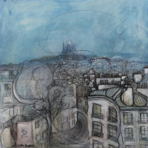 (CreativeWork) Paris Somnium by Christopher Andrew. mixed-media. Shop online at Bluethumb.