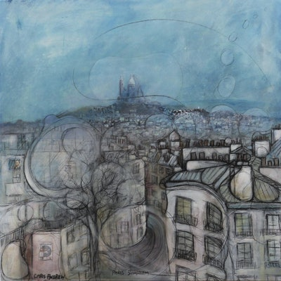 (CreativeWork) Paris Somnium by Chris Andrew. mixed-media. Shop online at Bluethumb.