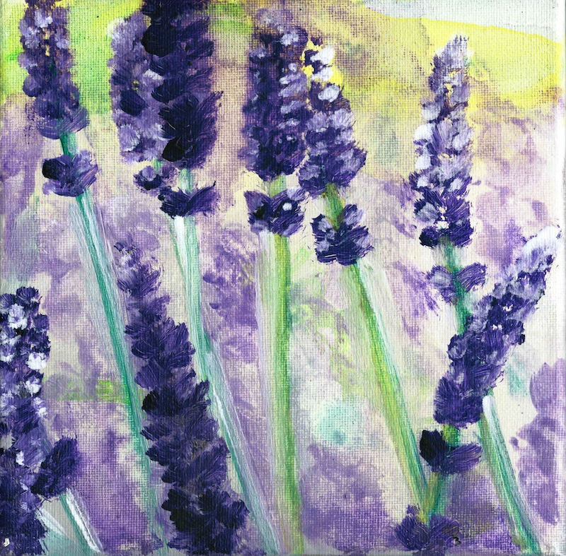 (CreativeWork) LAVENDER HUE by HSIN LIN. arcylic-painting. Shop online at Bluethumb.