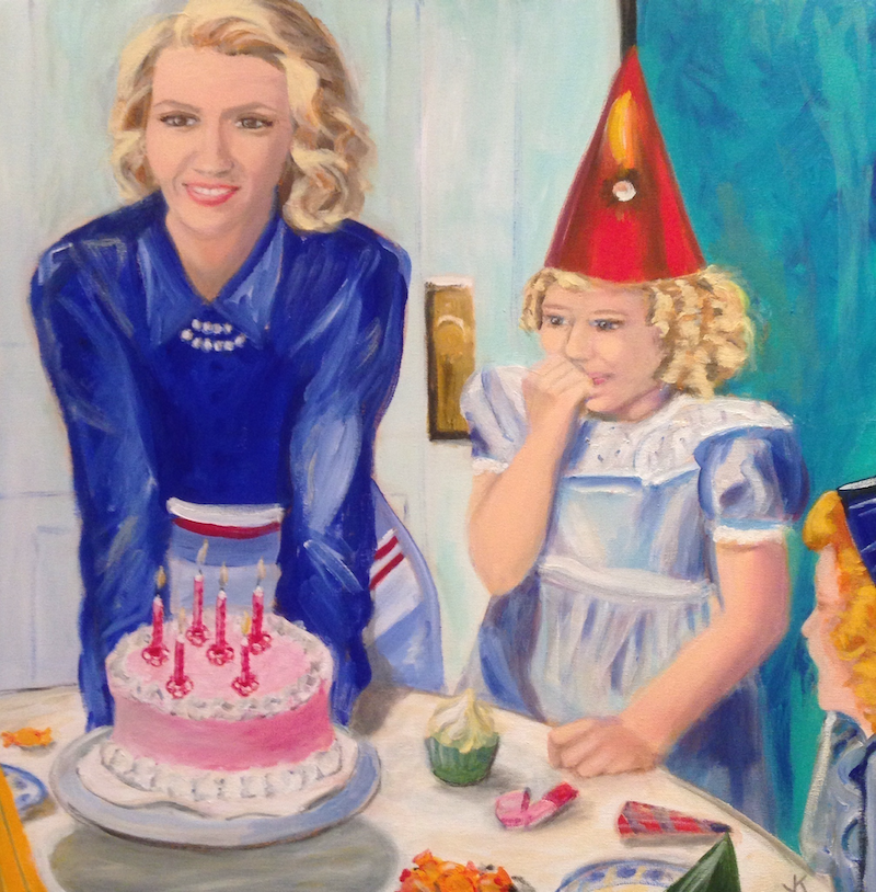 (CreativeWork) Retro Birthday by John Klein. arcylic-painting. Shop online at Bluethumb.