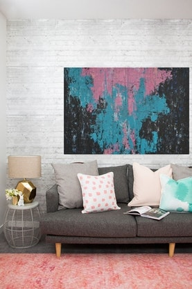(CreativeWork) Pink Mellow by Katie Dobson. #<Filter:0x00007fbc8ee64478>. Shop online at Bluethumb.