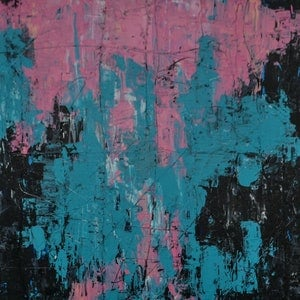 (CreativeWork) Pink Mellow by Katie Dobson. arcylic-painting. Shop online at Bluethumb.