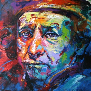 (CreativeWork) Rembrandt by Jos Coufreur. acrylic-painting. Shop online at Bluethumb.