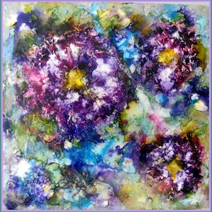 "(CreativeWork) ""Abstract Flowers""  Reduced in Price  by linda bartlett. mixed-media. Shop online at Bluethumb."