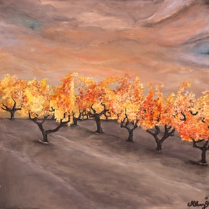 (CreativeWork) The vines by Michelle Avery. arcylic-painting. Shop online at Bluethumb.
