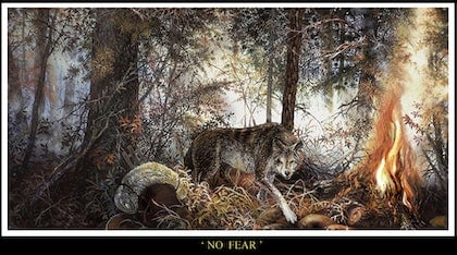 (CreativeWork) NO  FEAR by Gary Woodfield. arcylic-painting. Shop online at Bluethumb.
